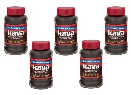 Kava Reduced Acid Instant Coffee, 4 oz (Pack of 5) by Kava