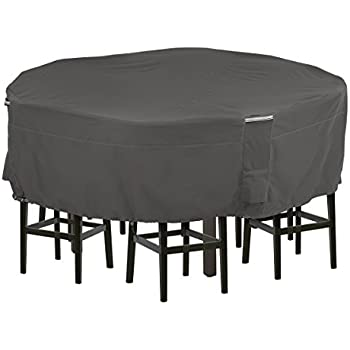 Classic Accessories Ravenna Tall Round Patio Table U0026 Chair Set Cover    Premium Outdoor Furniture Cover