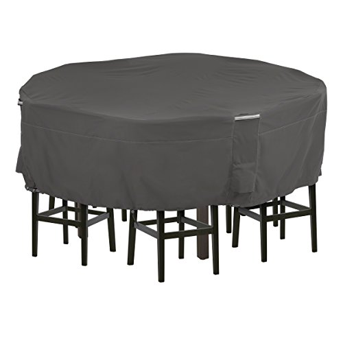 Classic Accessories Ravenna Tall Round Patio Table & Chairs Cover, Large (Round Patio Table Chair Cover)