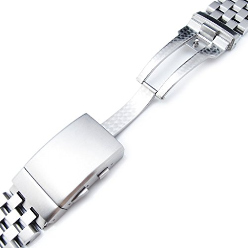 22mm Super Engineer II Straight End Watch Bracelet, Universal 1.8mm SpringBar, Ratchet Buckle by Metal Band by MiLTAT (Image #5)