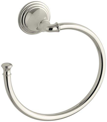 (KOHLER K-10557-SN Devonshire Bathroom Towel Ring, Vibrant Polished Nickel)