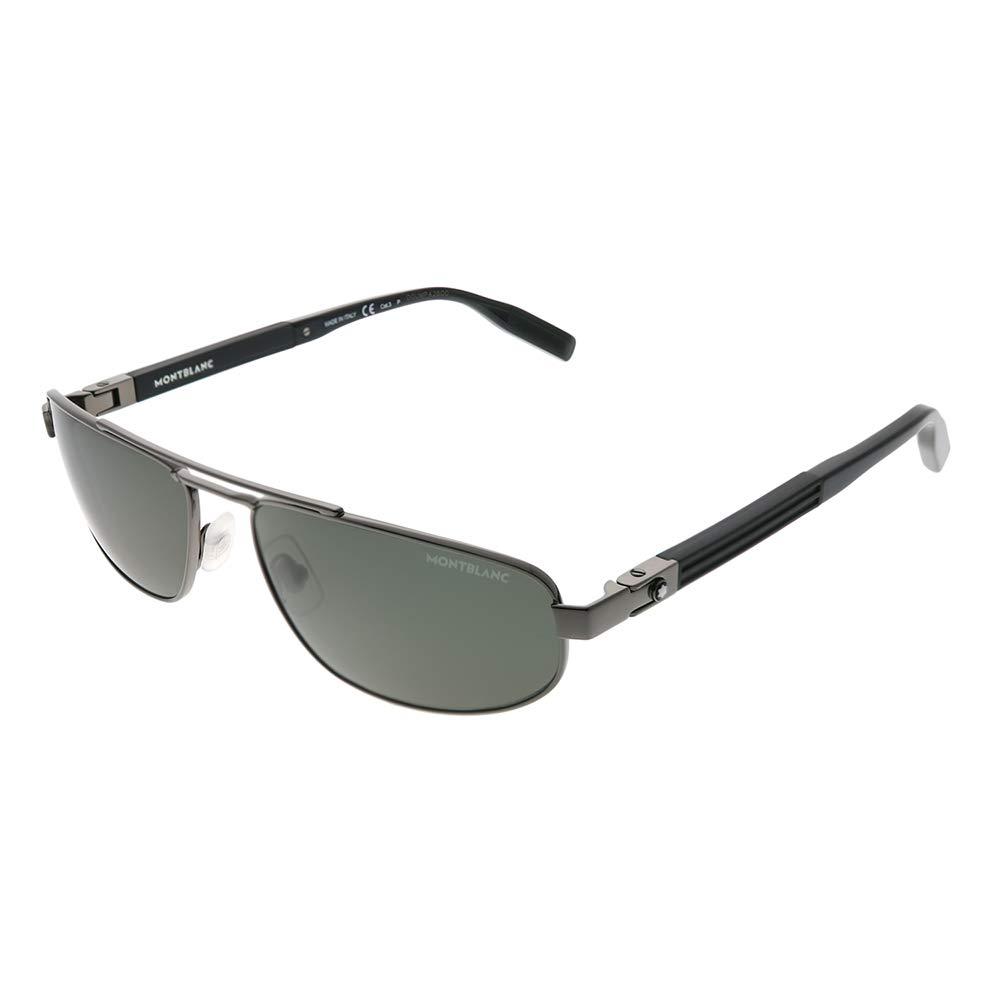 Amazon.com: Gafas de sol Montblanc MB 0033 S- 005 RUTHENIUM ...