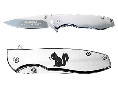 Squirrel with Nut Engraved Chrome Mirror Finish TAC-Force...