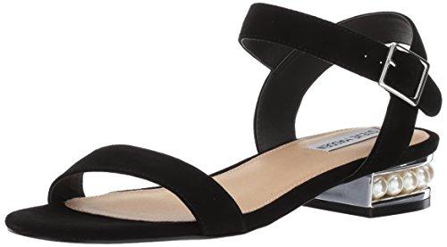 Steve Madden Kvinders Cashmere Flad Sandal Sort Ruskind Qwri38Fl