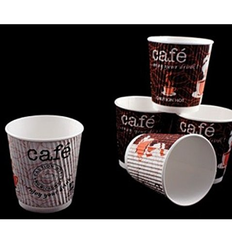 Northeast Hotel Supply 9 oz Double Ripple Paper Cup Individually Wrapped Hot & Cold Cup 900/cs
