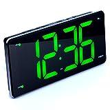 living room display - Ultra Large Display Alarm Clock Radio, Large Number Clock, LED Digital Clock with 9.5