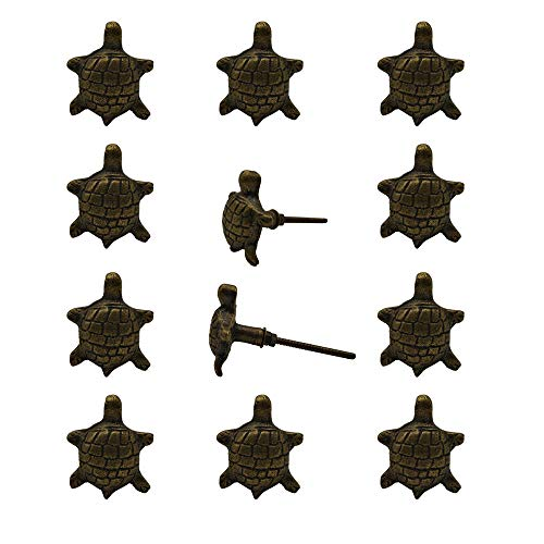 (Decokrafts. Pack of 12 Pcs Handmade Tortoise Iron Knobs for Cabinets and Door)