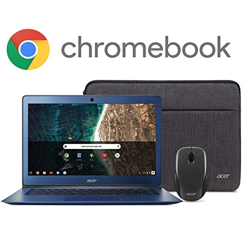 "Acer Chromebook 14, Intel Celeron N3160, 14"" Full HD Display, 4GB LPDDR3, 32GB eMMC, 802.11ac WiFi, Protective Sleeve, Wireless Mouse, CB3-431-C539"
