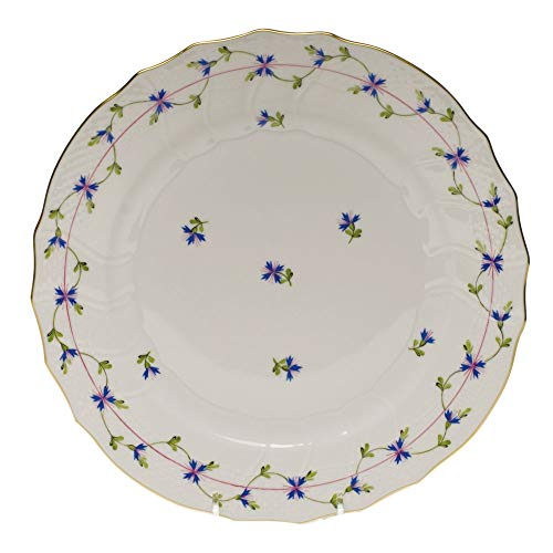 - Herend Blue Garland Porcelain Dinner Plate
