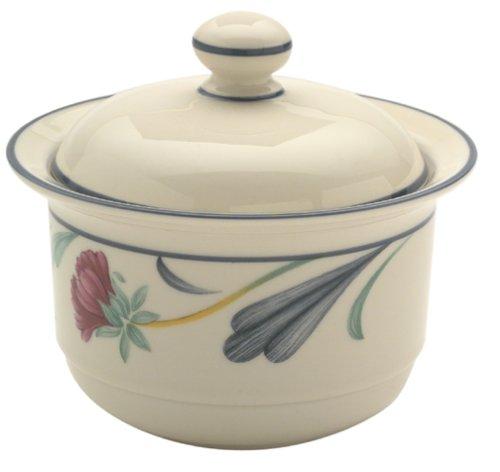 Lenox Poppies on Blue Chinastone Sugar Bowl with Lid
