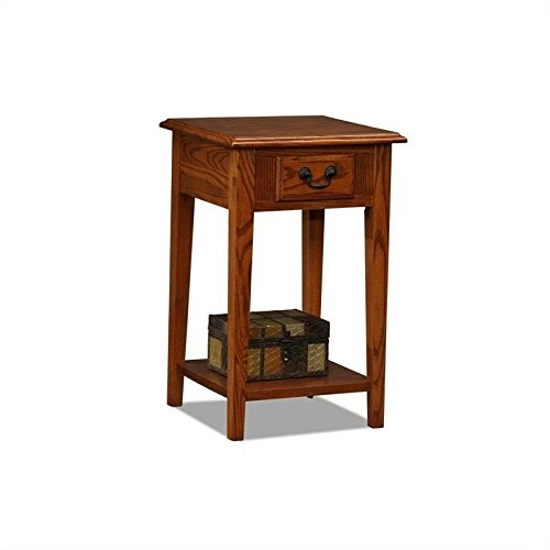 BOWERY HILL Shaker Square End Table in Medium Oak Finish ()