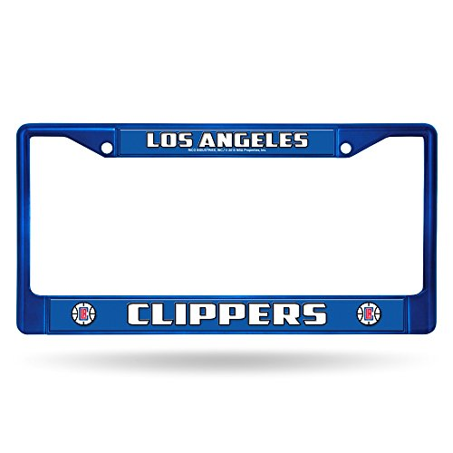 Rico Los Angeles Clippers NBA Licensed Blue Painted Chrome Metal License Plate Frame