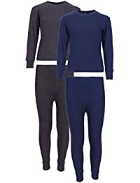 Boys 2-Pack Thermal Warm Underwear Top and Pant Set