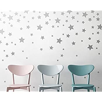 Star Wall Decals - Silver Star Decals Nursery Wall Decals Star Wall Stickers  sc 1 st  Amazon.com & Amazon.com: Star Wall Decals - Silver Star Decals Nursery Wall ...