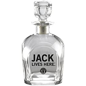 Jack Daniel's Licensed Barware Jack Lives Here Decanter
