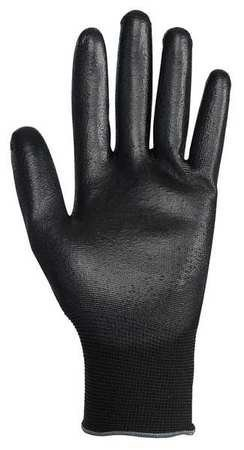 Coated Gloves, Nitrile, M, Black, PK12 by Jackson Safety