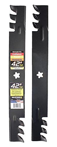 "Maxpower 561713XB Commercial Mulching 2-Blade Set for 42"" Poulan/Husqvarna/Craftsman"