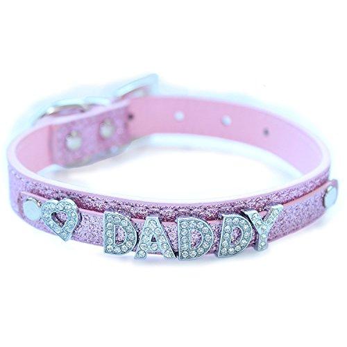 Daddy Dom DDLG/ABDL Leather Collar (PINK)