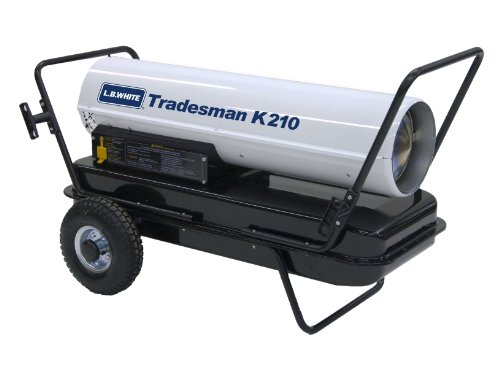 L.B. White CP210CK Tradesman K210 Portable Forced Air Kerosene Heater, 210,000 Btuh