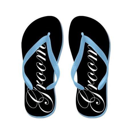 Lplpol Groom FILP Flops for Kids Adult Beach Sandals Pool Shoes Party Slippers Black Pink Blue Belt for Chosen
