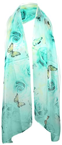 Silk Butterfly Print Dress - 3