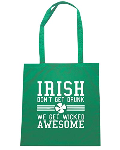 Verde DONT Shirt DRUNK Speed Borsa GET IRISH Shopper TIR0092 CYtvFwqS