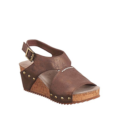 Antelope Womens 585 Metallic Leather Hi Met Stitch Sandals Copper Sd4dithRbn