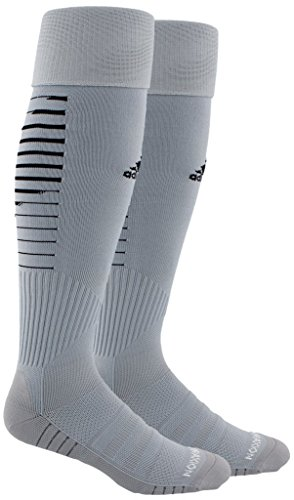 985d3198c9b5 adidas Team Speed II Soccer Socks, (1-Pack), light grey/black/light Onix,  9-13