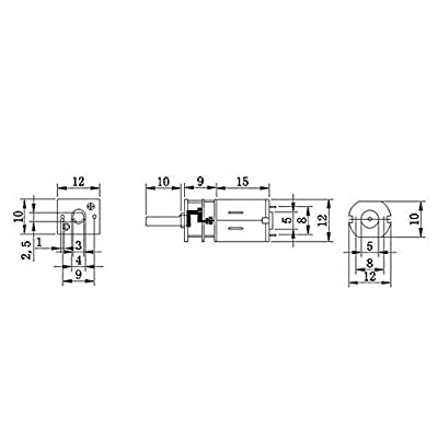 BQLZR 33x12mm Metal Mini DC 6V Gearbox Gearwheel Motor Mini Reduce Speed Geared Electric Motor