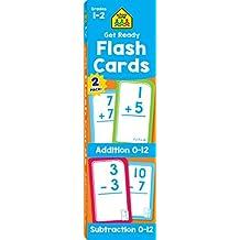 SCHOOL ZONE – Get Ready Flash Tarjetas de adición y resta, paquete de 2, grados 1 – 2, edades 6 – 7, adiciones, resta, matemáticas tempranas, resolución de problemas, coordinación ojo-mano, habilidades motoras finas, y más