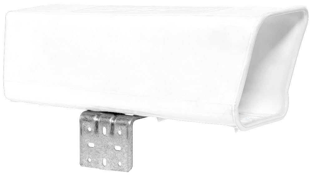 Plastic Newspaper Delivery Tube Box Receptacle & Mounting Bracket, White