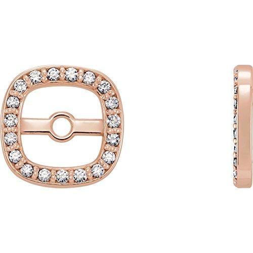 STU001- 14K Rose .08 CTW Diamond Earring Jackets by STU001-