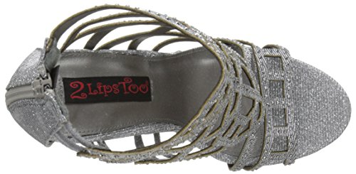 Pewter Women Too Amaze Sandal Too 2 Gladiator Lips p7Pqp4F