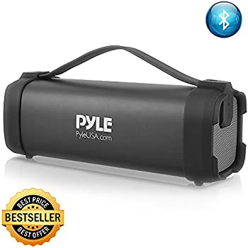 Pyle Wireless Portable Bluetooth Speaker - 100 Watt Power Rugged Compact Audio Sound Box Stereo System with Built-in Rechargeable Battery, 3.5mm AUX Input ...