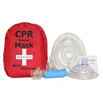 Amazon.com: MCR Medical máscara de RCP con dos ...