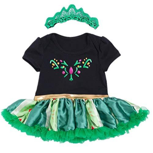 Tsyllyp Newborn Baby Girls Anna Dress Costume Tutu Bodysuit -