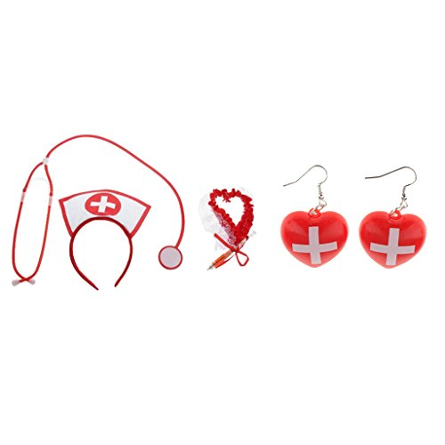 Dovewill 4/set Sexy Nurse Costume Accessories Hospital Honey Hen Party Fancy Dress