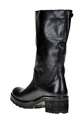LAVORAZIONE MCGLCAS04184I ARTIGIANA Black Boots Ankle Leather Women's r77FU
