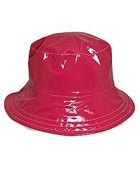 Dorfman Pacific Women's Reversible Solid/Polka Dot Bucket Rain Hat