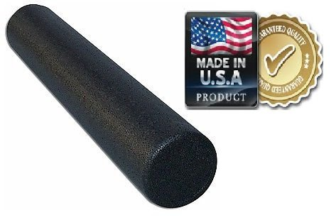 HealthyLifeStyle Foam Roller, Black High Density Foam Roller, Elite Extra Firm, 6'' x 36'' Round,  Manufactured in the U.S.A. by HealthyLifeStyle!