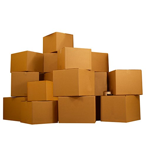 Moving Boxes 1 Room Economy Moving Kit UBOXES Brand - 15 Medium & Small Boxes & Moving Supplies