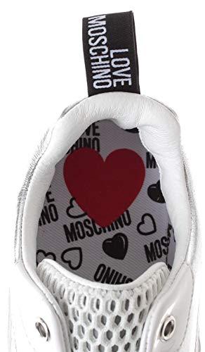 Blanche Love Basket Femme Argenté Chaussures Argent Maille Moschino YtrqwYxa