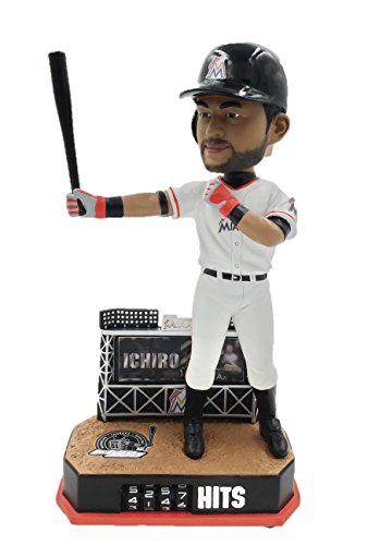 Ichiro Bobble Head (Ichiro Suzuki Hit Counter International Hit King Limited Edition Bobblehead Bobble Head - Miami Marlins, New York Yankees and Seattle Mariners - Individually Numbered to Only 2,016)