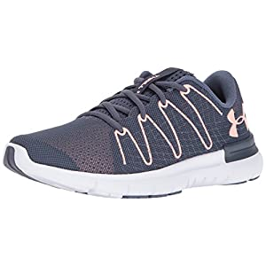 Under Armour Women's Thrill 3, Apollo Gray/White/Pink Sands, 8 B(M) US