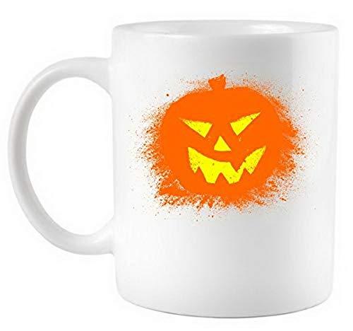 Funny Halloween Pumpkin Jack O Lantern Splatter Coffee