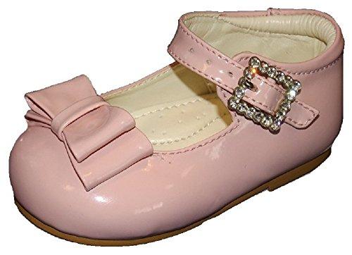 Early Steps doble lazo con diamante hebilla cierre. Disponible en tamaños UK 1–10(Euro 1728) color blanco blanco blanco Talla:UK child 9 rosa