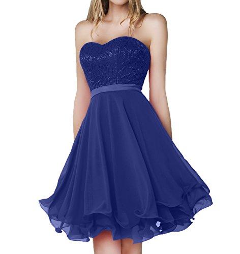 Charmant Chiffon Royal Damen Abendkleider Spitze Rot Kurz Kleider Blau Jugendweihe Knielang Brautjungfernkleider rqrtZaw