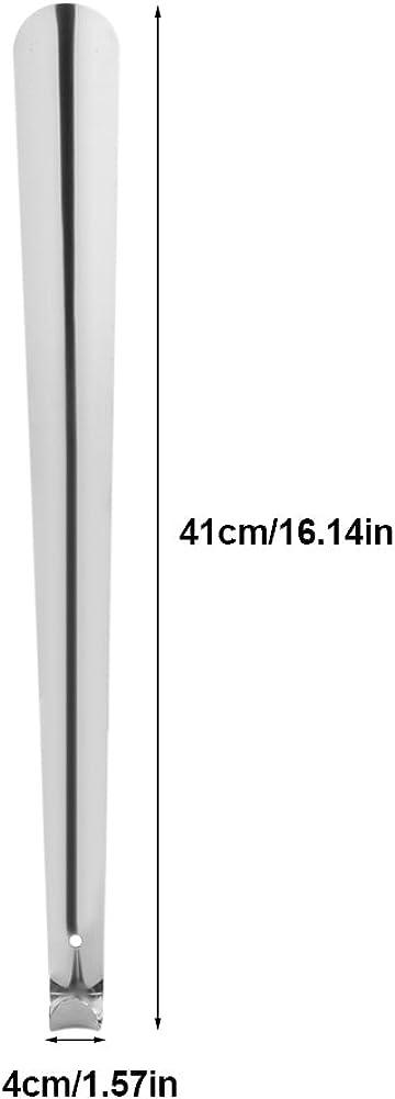 Hztyyier Stainless Steel Shoe Horn Kutsukara 41cm Length Shoehorn Durable Luxury Easy to Use Shoehorn for Seniors Elderly