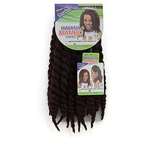 "Janet Collection Havana Medium MAMBO TWIST Braid 12"" (33 - Dark Auburn)"