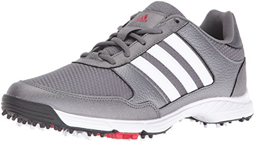 adidas Men's Tech Response Golf Shoe, Iron Metallic/White, 10 M US